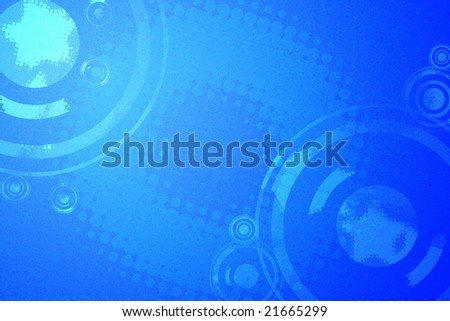 Music speaker and halftone dot abstract background
