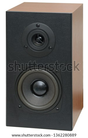 music speakers with two speakers on a white background #1362280889