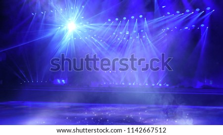 Music stage light effect #1142667512