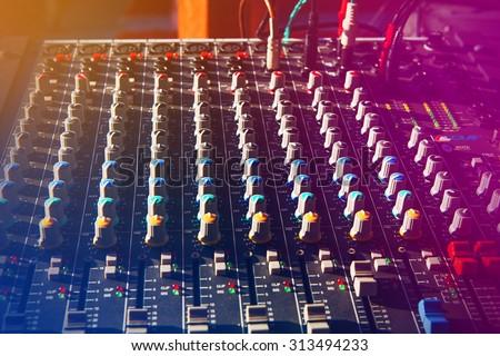 Music Studio & audio mixing console