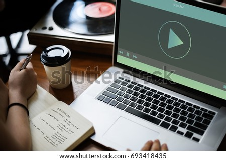 Music Video Player Multimedia Concept