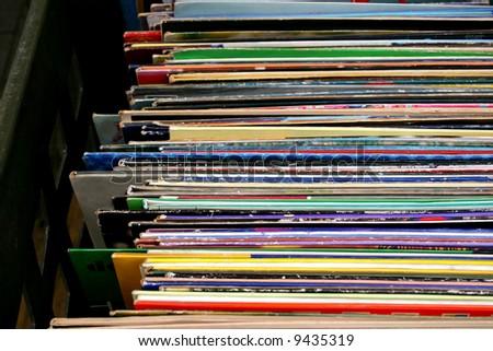Music vinyl album covers