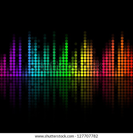 Music volume abstract background