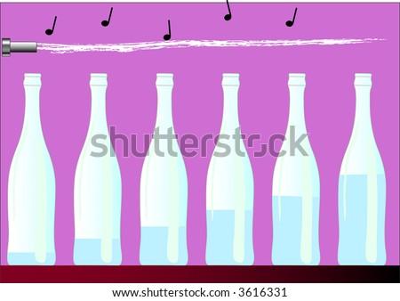 music whit bottle