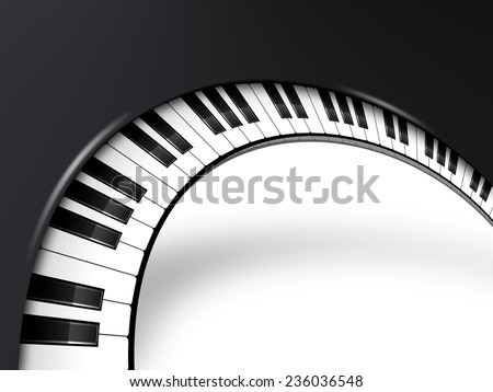 musical background with piano keys