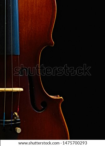 Musical instrument close up of a violin #1475700293
