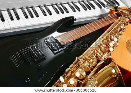 Stock Photo Musical instruments, closeup