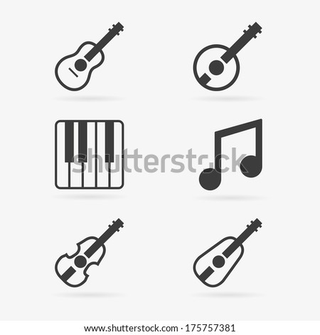 musical instruments symbol icons