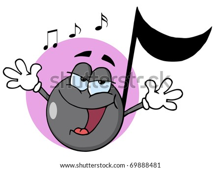 cartoon music note. stock photo : Musical Note