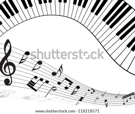 Musical note staff with lines. Raster version.
