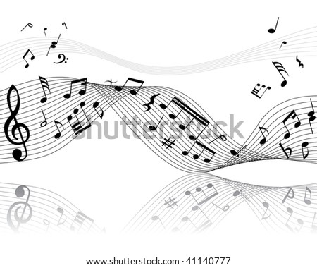 musical notes background. stock photo : Musical notes