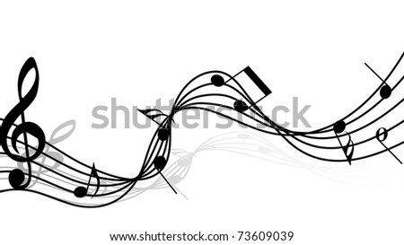 Musical notes staff background for design use (fictional music composition)
