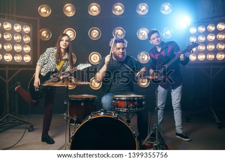 Musical performers on the stage, vintage style #1399355756