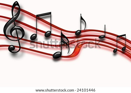 music staff clipart. stock photo : Musical staff of