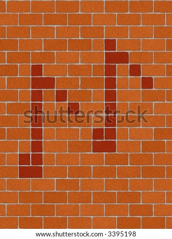 musical symbols on seamlessly brick-wall tile