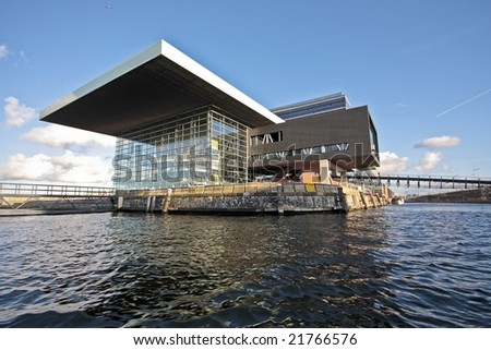Musicbuilding in Amsterdam harbor in the Netherlands