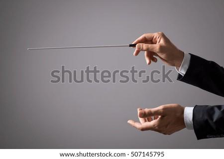 musician director holding stick ...