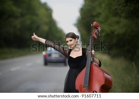 Musician on the road