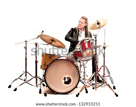 musician playing drums ストックフォト ©