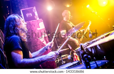 musician playing drums on stage #143318686