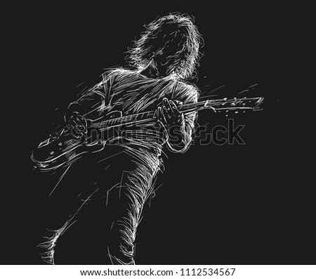 musician with a guitar. rock...