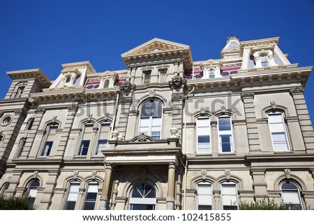 Muskingum County historic courthouse in Zanesville, Ohio