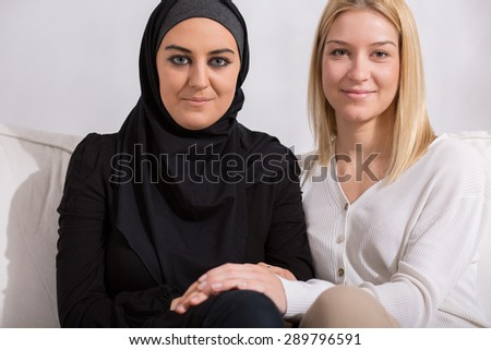 Muslim and christian girl - friends of different religion