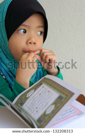 muslim girl want to reading Quran