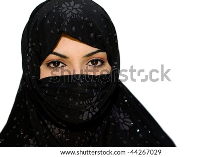 Muslim Girls With Scarf. stock photo : Muslim Girl with