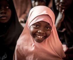 Muslim little girls in school