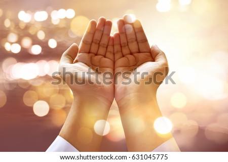 Muslim man praying Stock foto ©
