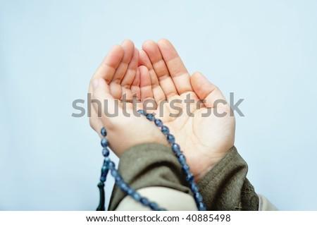 Muslim praying hands