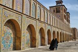 Muslim women leaving the mosque, Tehran, Iran