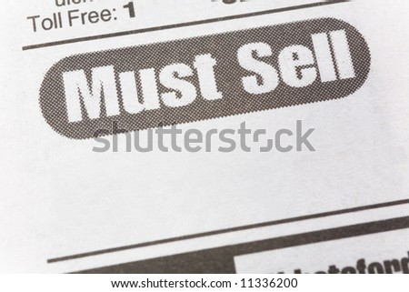 Must See, newspaper Sales ad,  Business concept