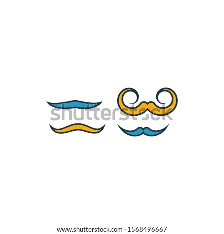Mustache Curled Upwards icon. Outline filled creative elemet from barber shop icons collection. Premium mustache curled upwards icon for ui, ux, apps, software and infographics.