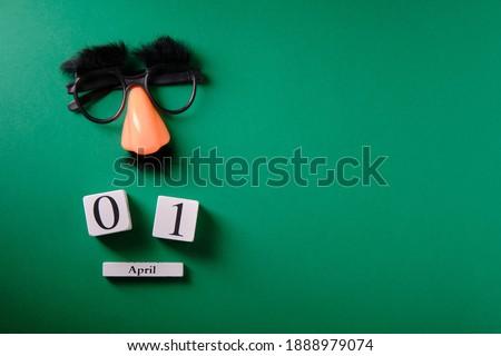 Mustache overhead glasses, April 1, joke, April fools day Сток-фото ©