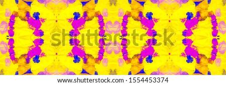 Mustard Blush Tie Dye Cloth Texture. Colorful Geometric Geometric Pattern. Yellow Coral Endless Muslim Design. Mustard Fruit Bleach Dyeing. Hued Geometrical Hand drawn Ikat.