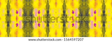 Mustard Fruit Tie Dye Fabric Piece. Vivid Geometrical Hand drawn Ikat. Yellow Coral Endless Majolica Style. Yellow Blush Tie Dye Effect. Colored Geometric Geometric Pattern.