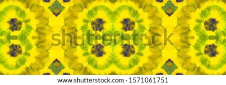 Mustard Fruit Tie Dye Watercolor Art. Vivid Geometrical Hand drawn Ikat. Yellow Coral Seamless Mosaic Oriental. Yellow Pink Tie Dye Effect. Multicolor Geometric Geometric Design.