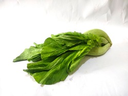 mustard greens (Brassica juncea) was isolated on a white