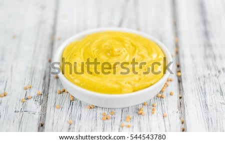 mustard on a vintage background ...