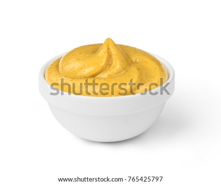 mustard sauce in the bowl #765425797