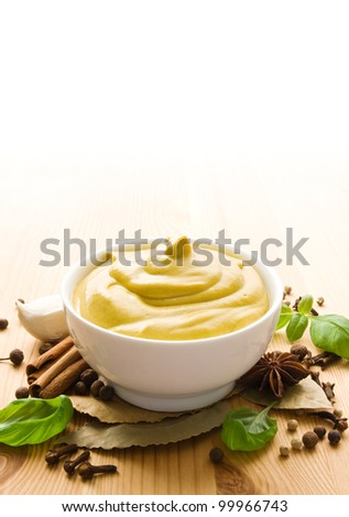 Mustard with herbs and spices