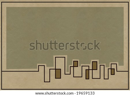 muted skyline background for...