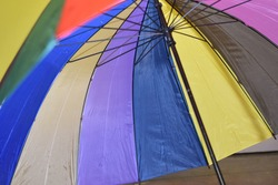 muticolor umbrella in rainbow colors