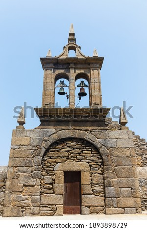 Muxía's Our Lady of the Boat shrine, Nosa Señora da Barca or Virxe da Barca Sanctuary in Galicia. Galicia, Spain (The Ancient Pilgrimage Spiritual Site) Zdjęcia stock ©