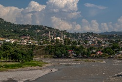Muzaffarabad is the capital and largest city of Azad Jammu and Kashmir, and the 60th largest in Pakistan. The city is located in Muzaffarabad District, near the confluence of the Jhelum and Neelum
