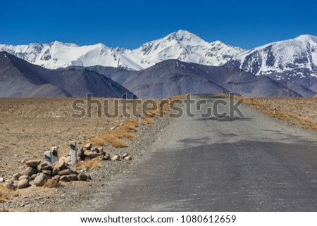Muzkol peak road.