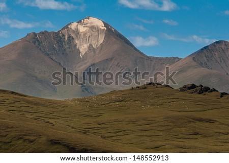 Muztagh Ata mountain in Xinjiang China. Good for China tourism