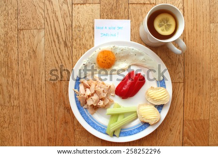 MY BREAKFAST: The best breakfast is the one I do not have to do it by myself - begin the day that you make somebody happy